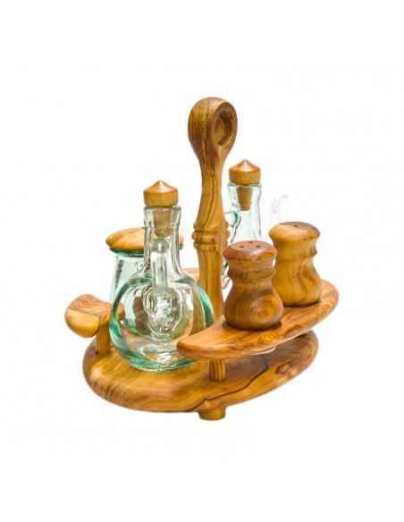 Set na olej, ocet, sůl, pepř a parmezán 19 x 18 cm 2