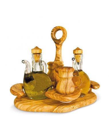 Set na olej, ocet, sůl a pepř 19 x 21 x 17 cm