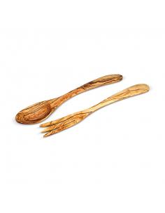 Příbor z olivového dřeva