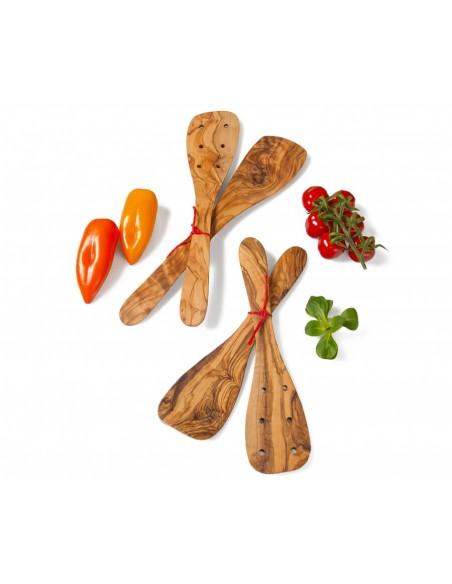Set 2 ks obraceček z olivového dřeva 30 cm