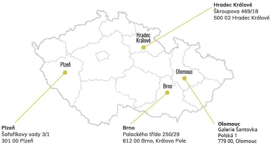 mapa prodejen Olivové dřevo
